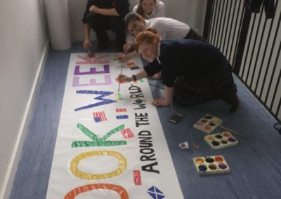 Thank you to our Transition Year Students who made our banner!