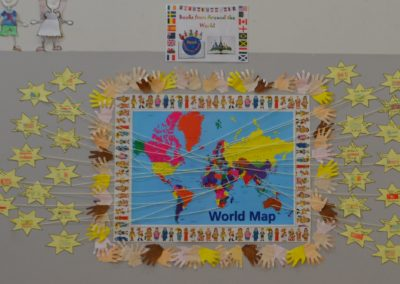 Each star represents a country that our students have a family connection with.