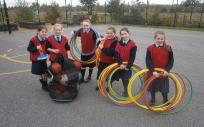 4th Class Organising Junior Yard Activities