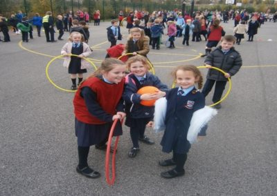 Junior Infants having fun with the activities