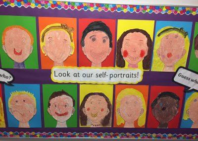 Self-portrait paintings