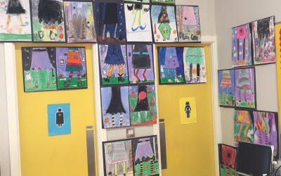 Halloween Art Attack in Room 12