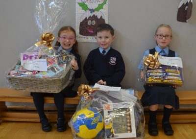 Junior Infants, Senior Infants and First Class Raffle Winners